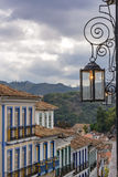 Street and lights of Ouro Preto city Stock Image