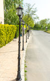Street lights in the resort of Sunny Beach in Bulgaria Stock Images