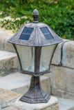 Street lights. Solar cell lamp for garden light, clean energy Stock Photos