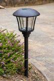 Street lights. Solar cell lamp for garden light, clean energy Stock Photo