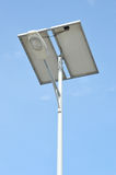 Street lights with solar panels Stock Photography
