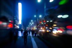 Street lights of Ulan-Bator Stock Photography
