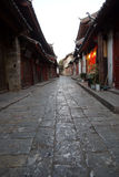 The street in Lijiang old city, Yunnan province, China. Stock Image