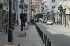 Street from limassol cyprus Royalty Free Stock Photo