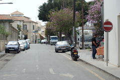 Street from limassol cyprus Royalty Free Stock Images
