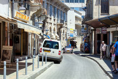 Street in Limassol Royalty Free Stock Photo