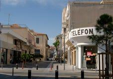 Street in Limassol Stock Photo