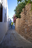 Street in Lindos Stock Photo