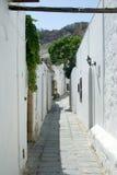 Street in Lindos Stock Photos