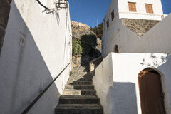 Street in Lindos Royalty Free Stock Photos