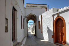 Street of Lindos Royalty Free Stock Image