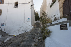 Street in Lindos Royalty Free Stock Image