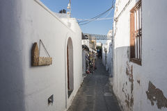 Street in Lindos Royalty Free Stock Photo