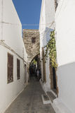 Street in Lindos Stock Photography