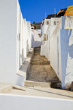 Street in Lindos Stock Photos