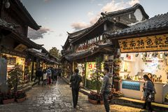 Old Town of Lijiang, Yunnan province, China royalty free stock image