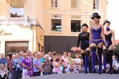 Street lingerie fashion show deventer Stock Image
