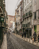 A street in Lisbon old town, Portugal. Stock Photos