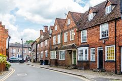 Street of listed buildings. Princes Risborough - 3rd June 2018: A street of listed buildings. The town is a typical English country town Stock Image