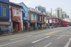 Street in Little India in Singapore Royalty Free Stock Photos