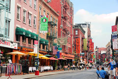 A street in little italy royalty free stock photo