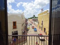 Street in a little town in Yucatan stock photography