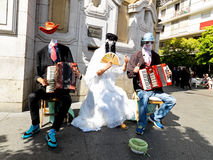 Street live music and show in Spain. 2015. Royalty Free Stock Photo