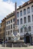 Street in Ljubljana, Slovenia royalty free stock image