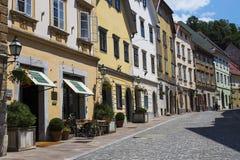 Street in Ljubljana, Slovenia stock image