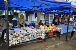 Street local foods in Kundasang,Sabah stock images