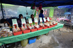 Street local foods in Kundasang,Sabah royalty free stock images