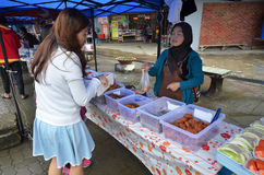 Street local foods in Kundasang,Sabah stock photos