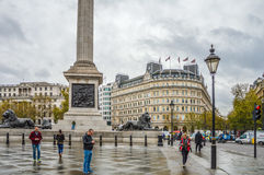 Street in London during day with people Royalty Free Stock Images