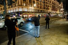 Street of London at night royalty free stock photos