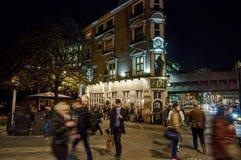 Street of London at night royalty free stock image