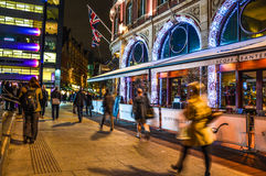 Street in London during night Royalty Free Stock Photography