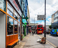 Street in London Notting Hill (hdr). LONDON, UK - CIRCA JUNE 2017: Street in Notting Hill (high dynamic range Stock Images