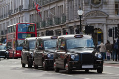 Street in London with taxi's Royalty Free Stock Photography