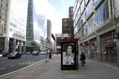 Street of London. Street view of London with modern offices and shops Stock Images