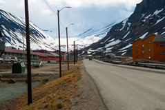 Street in Longyearbyen, Svalbard. Arctic Royalty Free Stock Image