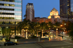 Street Los Angles by night stock photography
