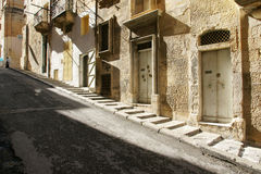 Street. With a lot of different doors in Valletta Royalty Free Stock Photo