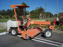 Street Lot Sweeper Stock Image