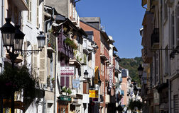 Street of Lourdes Stock Photos
