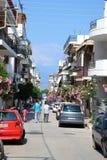 Street in Loutraki. Stock Image