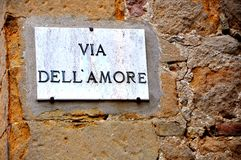 Street of love in Italy Royalty Free Stock Images