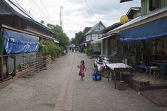 Street in Luang Prabang Royalty Free Stock Photography