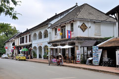 Street of Luang Prabang Royalty Free Stock Photos
