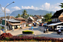 Street of Luang Prabang Stock Photos