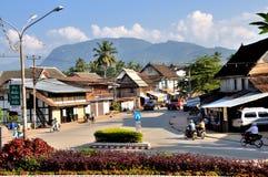 Street of Luang Prabang Stock Photos